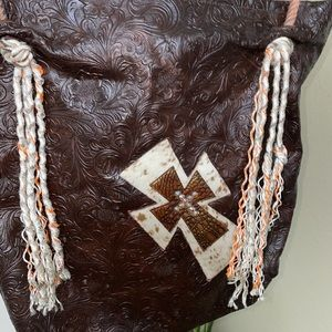 Bags - Western calf rope hide cross purse